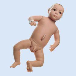 Säuglingspflegebaby, männlich, mit Nabelschnur
