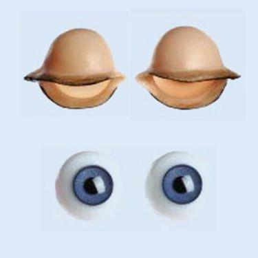 Augenpaar mit Lidern