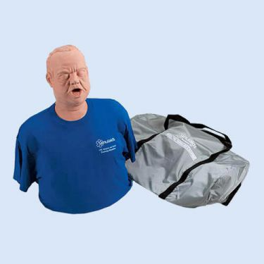 Obese Adult Choking Manikin, with Carry Bag